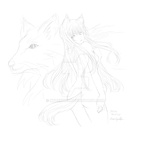 Spice and Wolf Horo Sketch by XtheXKXX
