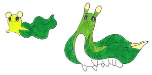 Green sea slug by FrozenFeather