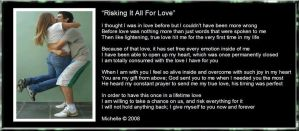 Risking It All For Love by VisualPoetress
