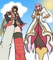 Resized Rita and Enormous Estelle by Reimutoadin