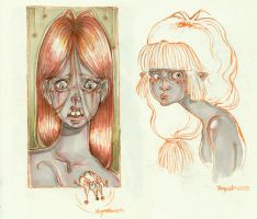 Grey Girls doodles by kamarza