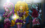 dazzlings... (Version EG color) by mauroz