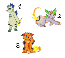 Closed species adopts by LizzysAdopts