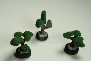 Miniature Meditations Polymer Clay Bonsai Trees by BeautifulEarthStudio