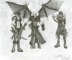 Redesigned Characters by Draxen