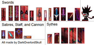 Hall Of Weapon Sprites by DarkOverlordSkull