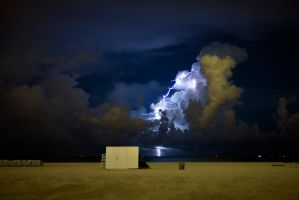 Lightning Over South Beach by DaliGiger