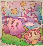 kirby and waddle dee by scilk
