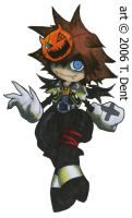 KH - HalloweenTown Sora chibi by TheQueenofKawaii