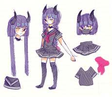 demon girl ref by Icee-tan
