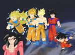Goku's Evolution 2 by fullmetaljuzz