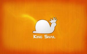 King Snail Wallpaper by darrenc607