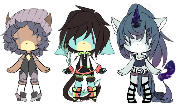 Adoptables (open) by ZebSkertch96