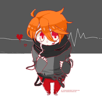 He just ate him (Art request with Kukeshii) by stitchesnumberedby17