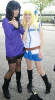 Nico Robin y Lucy Fairy tail One Piece by Moskita