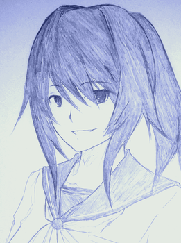 Yandere Sim: Yandere-Chan (Quick Sketch) by the-generic-overlord
