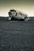 Iceland Plane Wreck by cwaddell