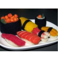 Needle felted Sushi Platter by manGoavocaDo