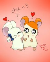 Bijou and Hamtaro - Cheek Kiss by Shadow2Bijou