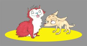 Red Cat and Skinned Rat Show by RomaniZ