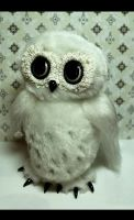 White owl. Art doll commission for Morteque by RedFoxAlice