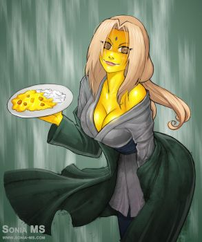 Curry Zombie Tsunade by Jokerisdaking