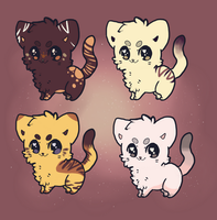 Cat adoptables CLOSED by MidIite