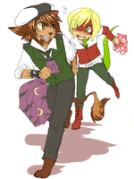 Taishi and Byan by xMits