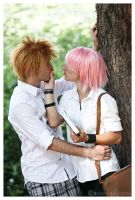 NaruSaku: playful kiss by FairyScarlet