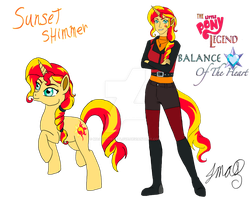 The Little Pony Legend: Sunset Shimmer by MaggiesHeartLove