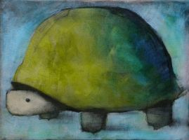 Tortoise, Green and Blue by SethFitts