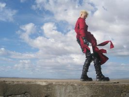 Vash in the wind by plushieman