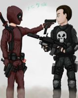 deadpool vs punisher by se-tank
