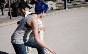 Aomine and Kise by Crazy-Naru