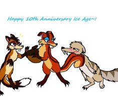 Ice Age's 10th Anniversary Pic by ShinyPikachu24
