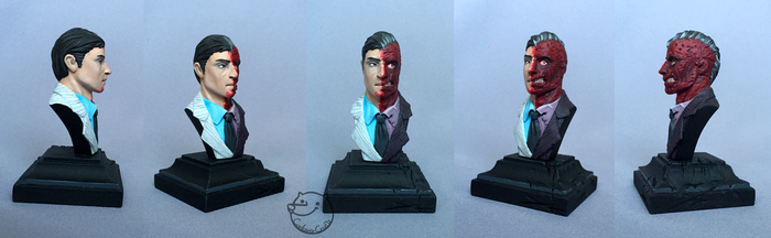Two-Face (bust) by CadaverCrafts