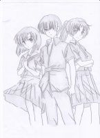 Rena, Keiichi And Mion by AMRRCReviews