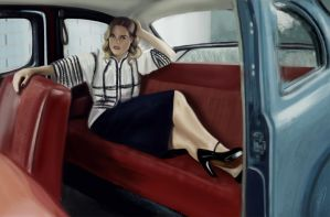 photo study Alice Eve in a Car by Wolkenfels