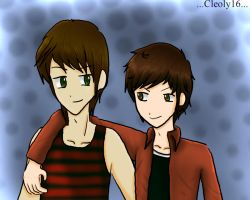 Vicente y  Daniel by cleoly16