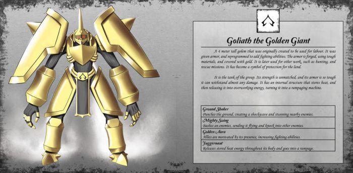 Goliath the Golden Giant by TakemaKei