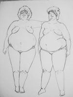 Two Fat Friends by CLODClod