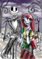 jack and sally by Nasuki100