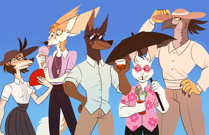 Summer Squad by DrFoxes