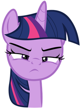 Twilight Sparkle scowling at Sky Stinger by Tardifice