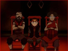 Mr. and Mrs. Fire and their Son Kuzon by AnimeGirl45xoxo