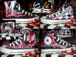 My Hand painted Twilight All Star Converses by AwakeMyySoul