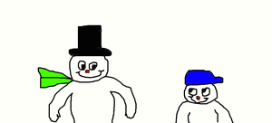 Frosty and Frosty Jr. by Simpsonsfanatic33