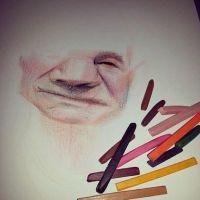 Caricature Work in Progress Patrick Stewart by bakaneko-kun