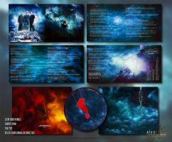 Night in Wales: Doubts and Fears CD album packagin by Aegis-Illustration