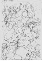 Sketch Conan and Sonja by MARCIOABREU7